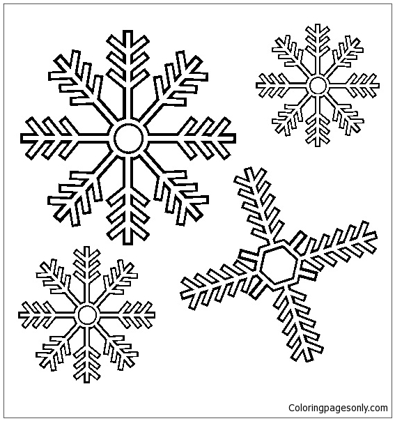 Snowflakes coloring pages   Free Coloring Pages   604x567
