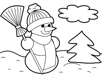 Snowman 1 Coloring Page