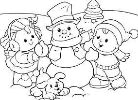 Snowman Preschool Coloring Page
