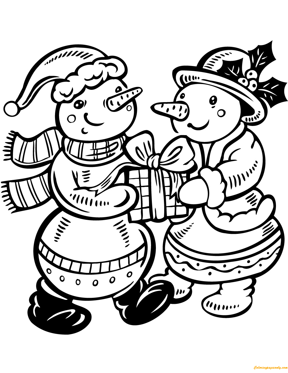 childrens coloring pages snowman free - photo#46