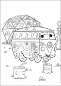Shy Hippybus from Disney Cars Coloring Page