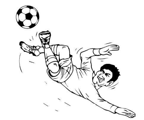 Soccer Player Kicking The Ball