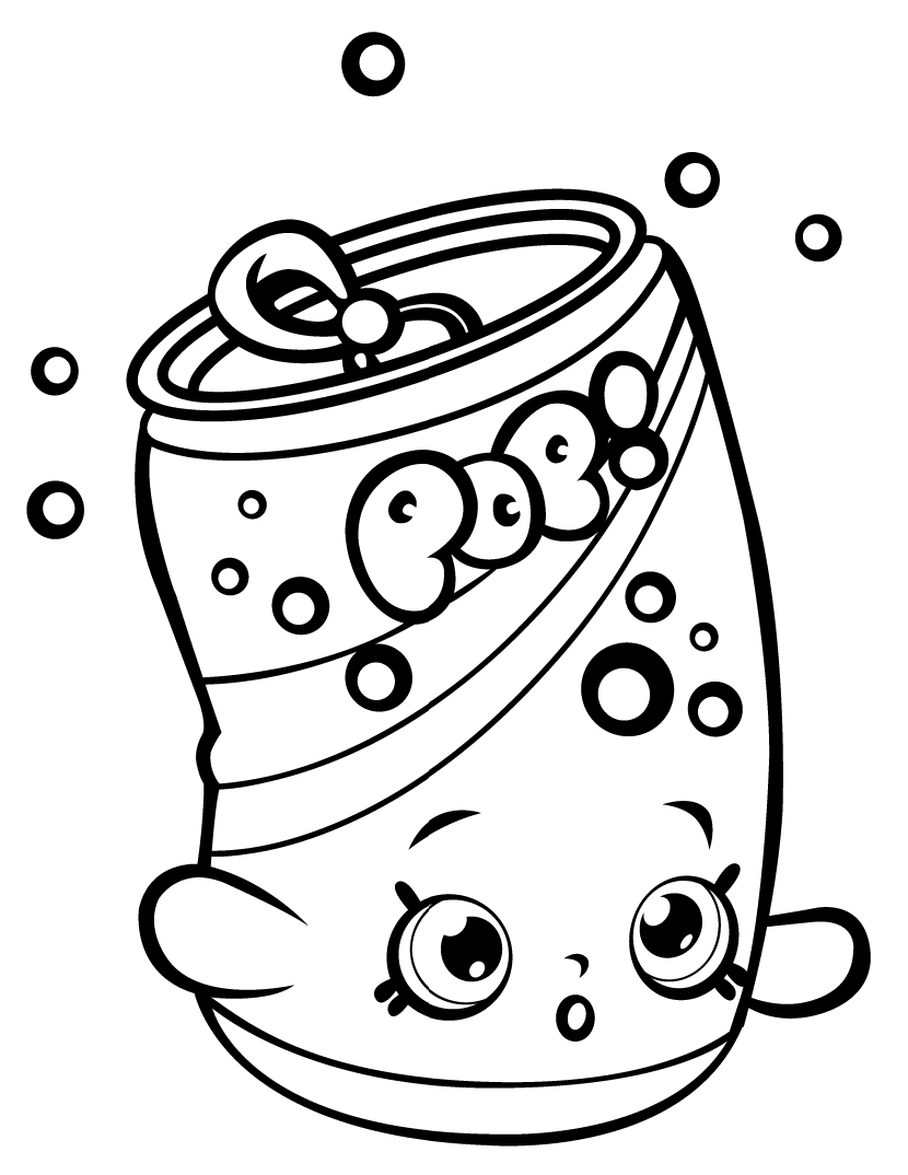 Soda Pops Shopkin Season 1 Coloring Page