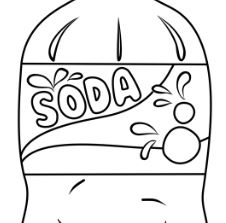 Soda Shopkins Coloring Page