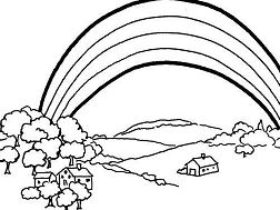 Somewhere Over the Rainbow Nature Coloring Page