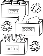 Sorting And Recycling Rubbish