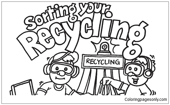 Glass Recycling Bin coloring page | Free Printable Coloring Pages | 354x573
