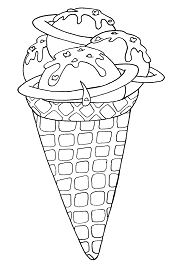 Space Ice Cream Coloring Page