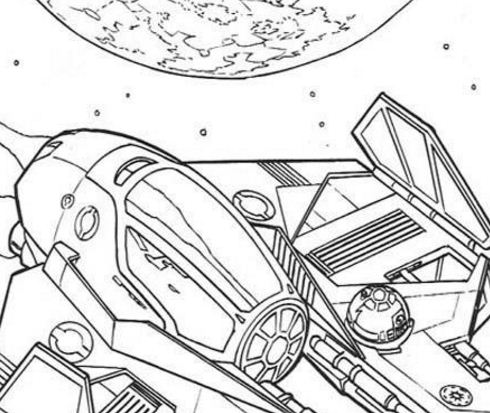 Spaceship Of Anakin Coloring Page