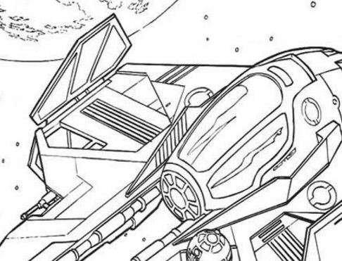 Spaceship Of Obi-Wan Kenobi Coloring Page