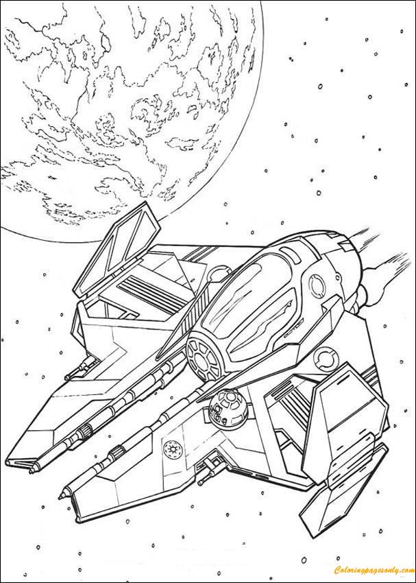 Spaceship Of Obi Wan Kenobi Coloring Page Free Coloring