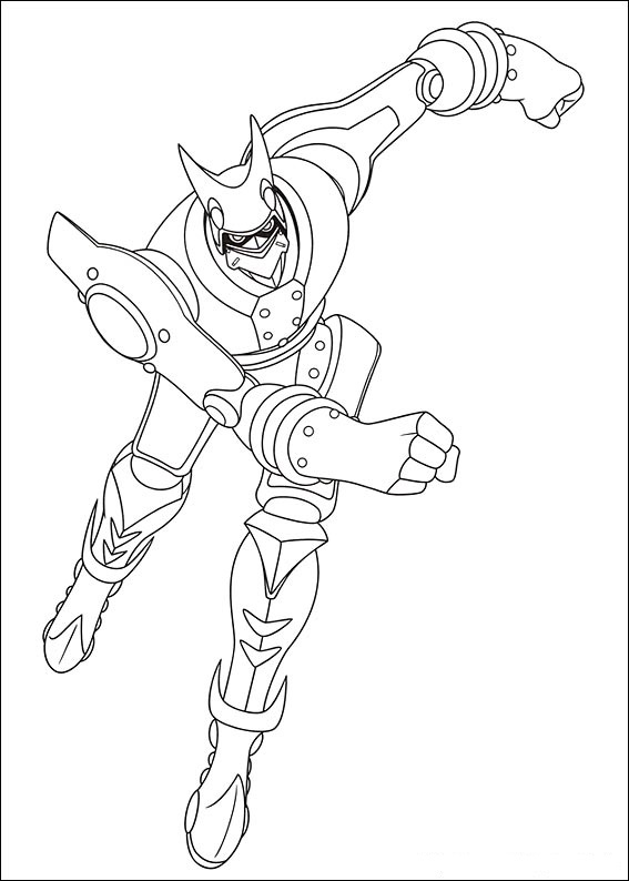 Sparklight from Astro Boy is running  Coloring Page