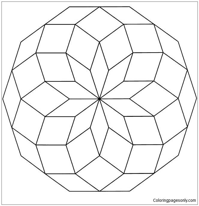Special Mandala Coloring Page