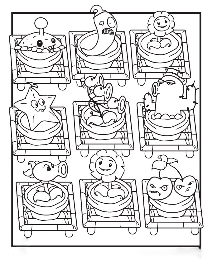 Special Plants Coloring Page