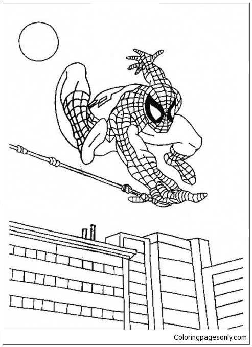 Spectacular Superhero Spiderman Coloring Page