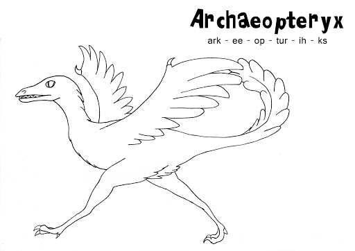Spelling Name of Dinosaur Coloring Page
