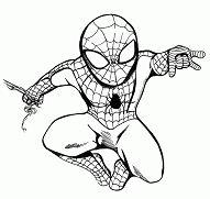 Spider-man Chibi BW