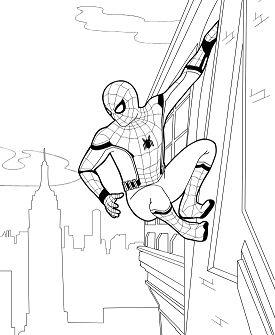 Spider-man homecoming 2 Coloring Page