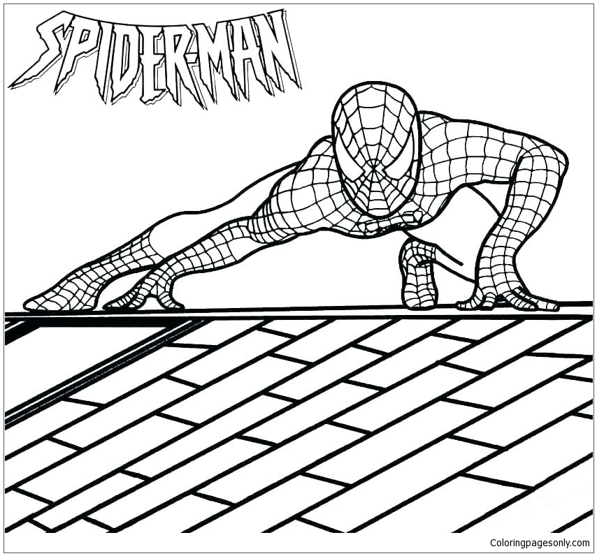 Spider man Homecoming Coloring Page - Free Coloring Pages ...