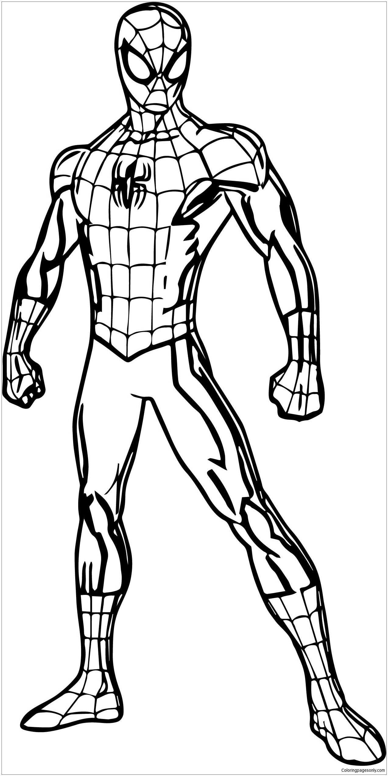 Spider Man Pose Coloring Page Free Coloring Pages Online