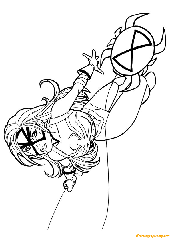 Spider Woman From Avengers Coloring Page Free Coloring