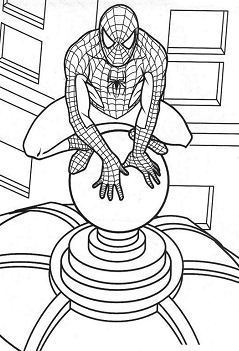 Spiderman 29 Coloring Page