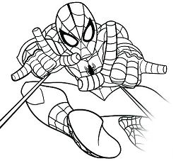 Spiderman 39 Coloring Page