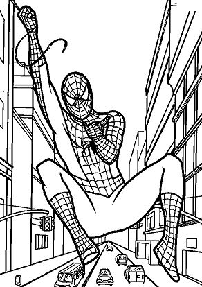 Spiderman Above The Streets