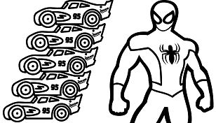 Lightning Mcqueen Monster Truck And Spiderman Coloring ...