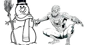 Spiderman and Man Snow