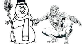 Spiderman and Man Snow