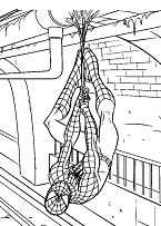 Spiderman Hanging From The Ceiling