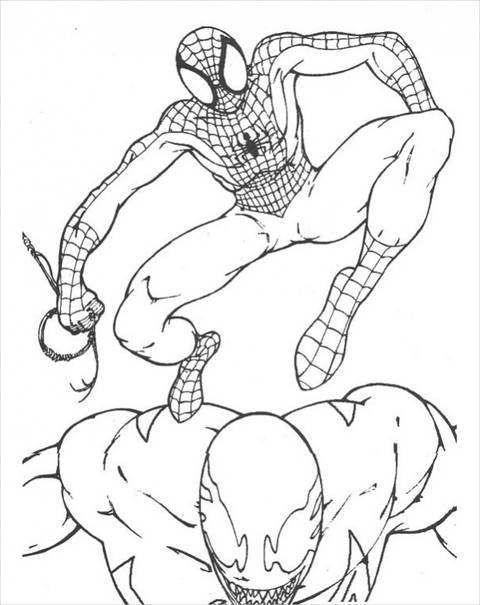 Spiderman Jumping Posture