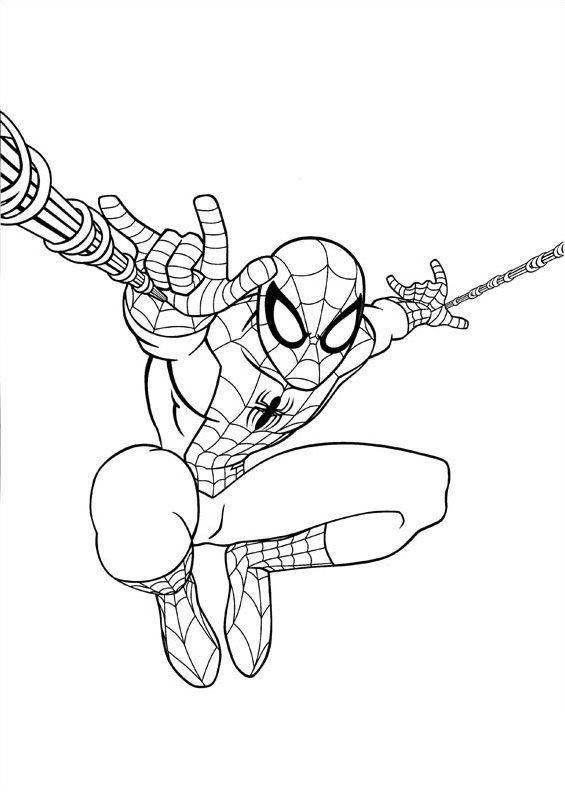 Superhero Spiderman Homecoming Coloring Page Free Coloring Pages