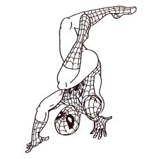Spiderman Upside Down