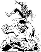 Spiderman vs Hulk Superheroes