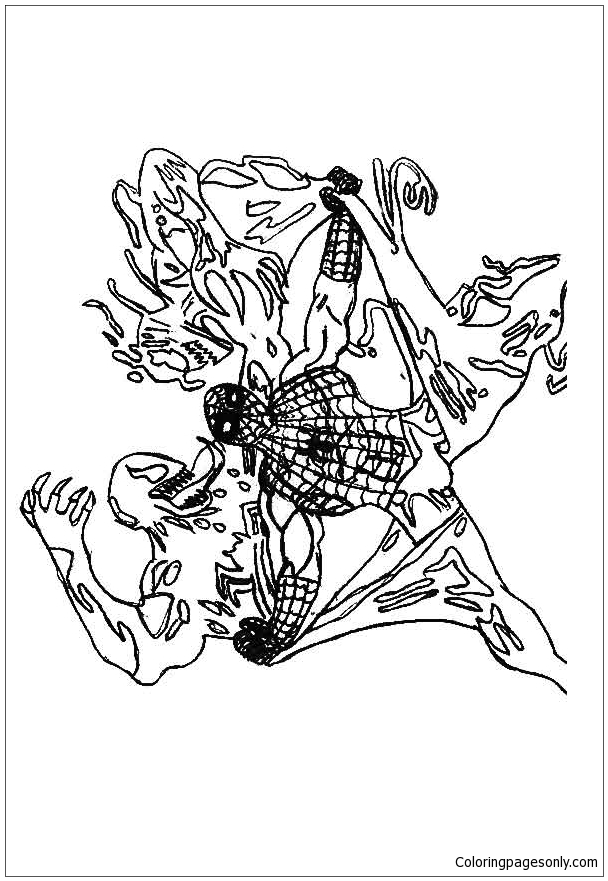 Spiderman Vs Venom Coloring Page Free Coloring Pages Online