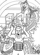 Spiderman Wants To Stop Doctor Octopus Coloring Page