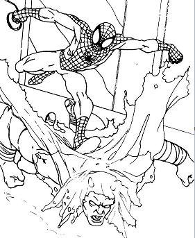 Spiderman who defeats the super criminal