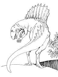 Spinosaurus Theropod Dinosaur Coloring Page
