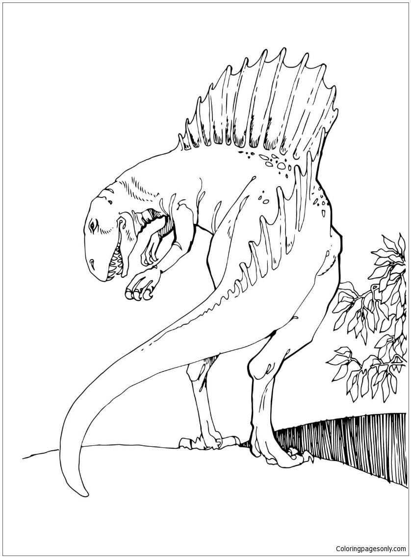 Alamosaurus dinosaur coloring pages | 1139x838