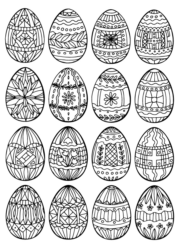 Spiral And Floral Easter Eggs