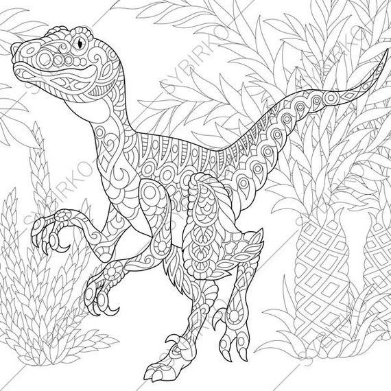 Splendid Allosaurus Coloring Page
