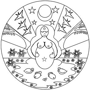 Spring Mother Goddess Mandala
