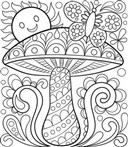 Spring Scene For Us Coloring Page
