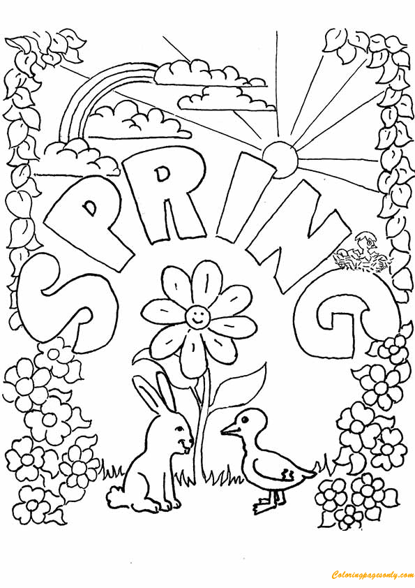 Spring Season Coloring Page Free Coloring Pages Online