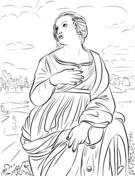 St. Catherine of Alexandria Coloring Page