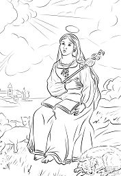 St. Genevieve Coloring Page