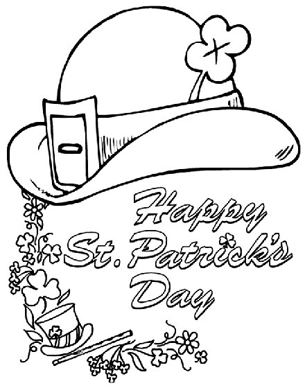 St. Paddy derby Coloring Page