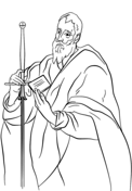 St. Paul by El Greco Coloring Page